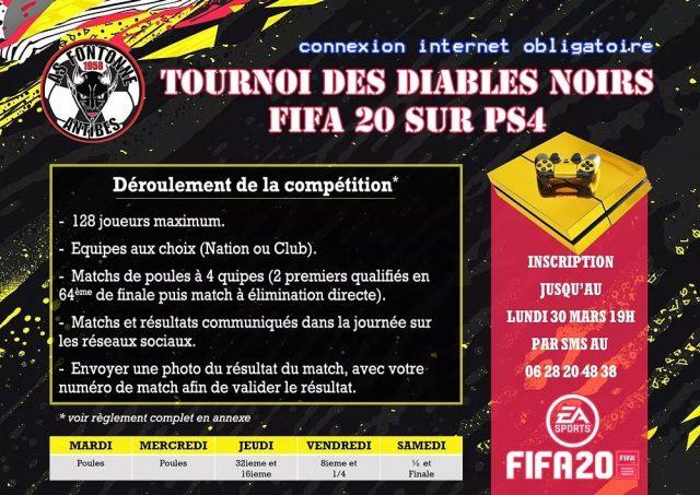 Tournoi des Diables Noirs FIFA 20 sur PS4