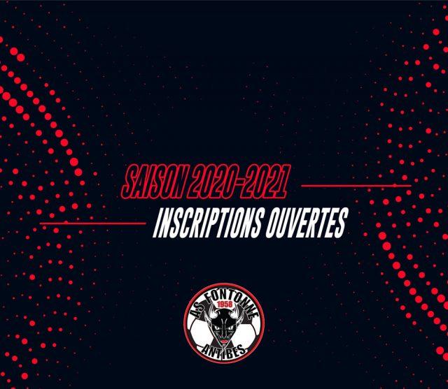 Saison 2020/21 – Inscriptions ouvertes