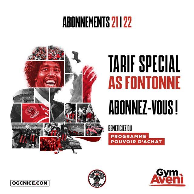 Abonnements OGC Nice  2021/22 – Tarif spécial ASF